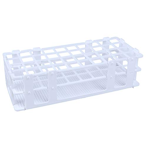 7thLake 1 Stück Kunststoffe Reagenzglasständer Abnehmbare Reagenzglashalter Zentrifugalrohrgestell Labor-Gefäßständer,40-Loch Ø20mm