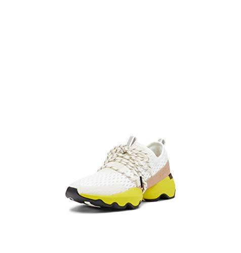 Sorel Women's Kinetic Impact Lace Sneaker - Sea Salt, Yellow - Size 7.5