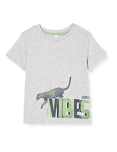 ESPRIT KIDS Jungen RQ1038403 SS T-Shirt, Grau (Heather Silver 223), 104/110 (Herstellergröße: 104+)