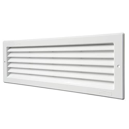 La Ventilazione P3713B-Y Rejilla de ventilación, Color Blanco, 370x130 mm