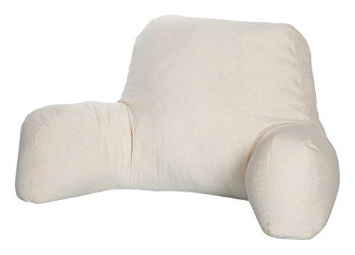 Dormio - Cojín de lectura o descanso, Relleno de fibra hueca con tratamiento antiácaros, antibacterias, antimoho y antialérgico, Color Blanco, Tamaño único 🔥