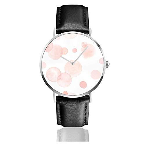 Acuarela Aquarelle Circles Correa de Cuero en Colores Pastel Relojes de Pulsera Relojes Casuales