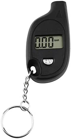 Detectorcatty 1pc Mini Portable Keychain LCD Digital Car Tire Tyre Air Pressure Gauge Auto Motorcycle product image