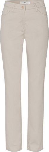 BRAX Damen Straight Leg Hose Carola Sport 78-1557, Beige (beige/56), Gr. W36/L32 (Herstellergröße:46Normal)