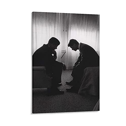 JFK RFK Prints Poster Living Room Wall Art Decor Canvas Hanging Picture 12x18inch(30x45cm)