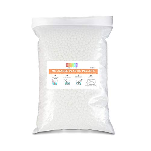 Moldable Plastic Pellets White Thermoplastic Craft Beads 015 in 105 oz