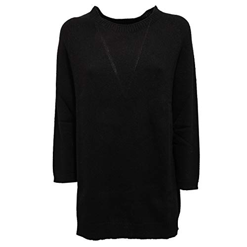 WOOLRICH 3469K Maglione overlong Donna Black Wool Sweater Woman [S]