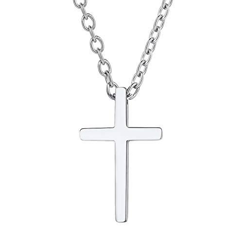 Richsteel Clásca Cruz Acero Colgantes y Collares Hombres Cadenas y Cruz de Mujer Cruz Joya Fe