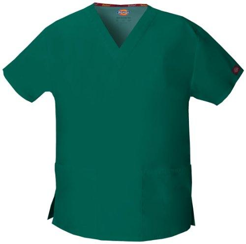 Dickies EDS Kasack mit 2 Taschen und V-Ausschnitt,XS - 5XL, OP Schlupfhemd(Grün, 4XL)