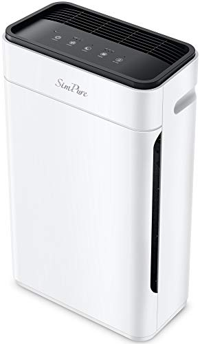 SimPure Air Purifier Medical Grade Filtration with HEPA Filter, 23db Ultra Quiet Air Cleaner with 4 stage Filtration – Eliminates Pet Hair, Remove (99.99%) Dust, Pollen, Mold, Smoke - Perfect for Home Office and Bedrooms - HP8