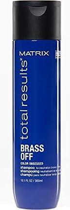 Matrix Champú Brass Off neutralizador de cabellos castaños, 300 ml