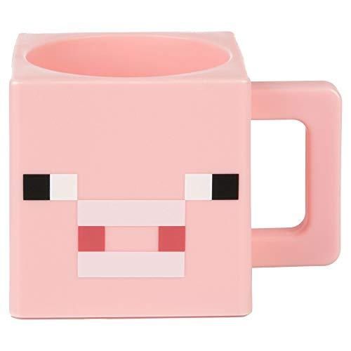 Minecraft Tasse, Plastik, Rosa, Einheitsgröße