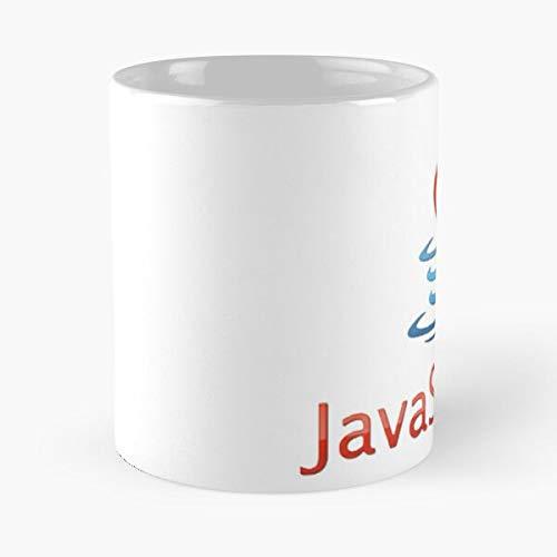 Dev Programming Java Javascript It I - La mejor taza de café de cerámica de mármol blanco de 11 oz