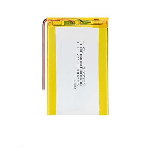 hsvgjsfa 3.7v 3000Mah 355585 Batterie agli Ioni di Litio Ai Polimeri di Litio, Ricaricabili per Utensili Elettrici Altoparlante Bluetooth 1piece