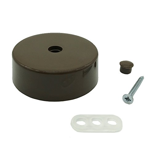 Distribución de lata marrón plástico con accesorios Diámetro 74x 25mm Caja de conexiones Caja de conexión conector fiambrera