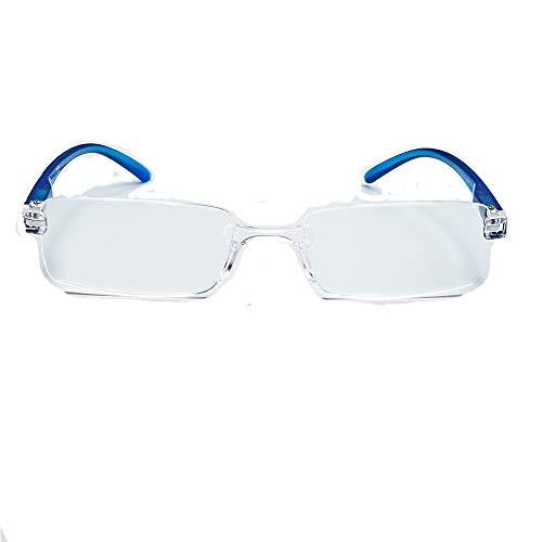 Marc Andrews compacte lichte randloze leesbril leeshulp met veerbeugel leesbril