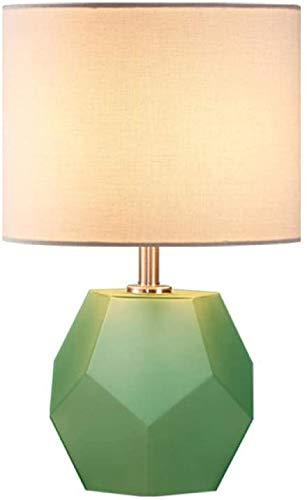 Eye-Pflege-LED-Lampe Licht Hochzeit Hochzeit Zimmerlampe Schlafzimmer Nachttischlampe Einfache moderne Warm Romantische europäische Art-Nachttischlampe-Gras Green_Dimming Schalter
