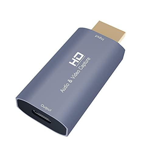 MagiDeal Tarjeta de Captura de Audio Y Video HD/M a Type-C/F USB-C 4K 1080P para Grabación