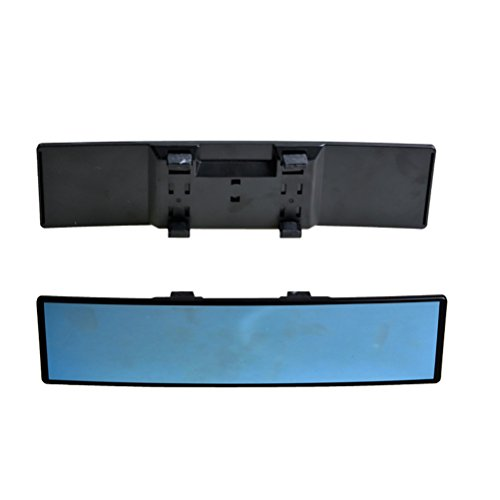 VORCOOL Espejo Retrovisor Interior del Coche Espejo Retrovisor Interior Panoramico Universal de Gran Angular Negro