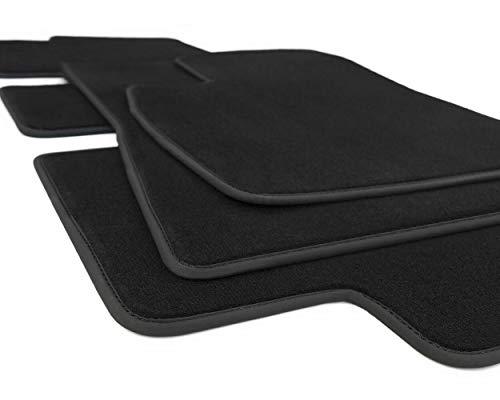 kh Teile Fußmatten Model 3 Zubehör Velours Automatten Sport Tuning, 3-teilig schwarz