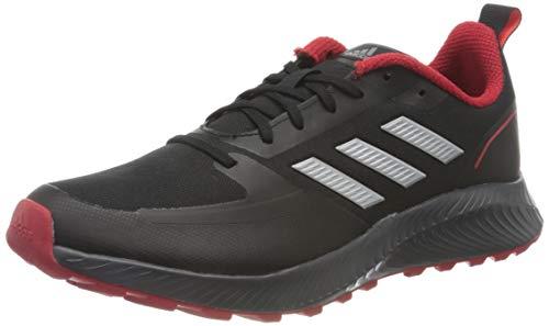 adidas Runfalcon 2.0 TR, Sneaker Hombre, Core Black/Silver Metallic/Grey, 42 2/3 EU