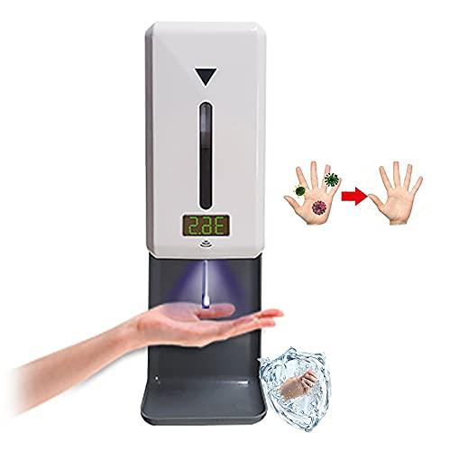 ilbcavne Dispensador De Jabón Automático Gel Hidroalcoholico Alcohol con Termómetro,Spray/Espuma/Gel Dispensador Automático De Alcohol,recordatorio De Alta Temperatura,para Baños,Cocinas