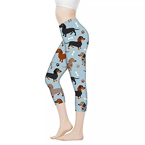 Belidome Leggings de yoga para mujer, pantalones capri de cintura alta, control de barriga, pantalones elásticos