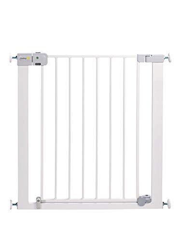 Safety 1st Easy Close - Puerta de seguridad de metal para niños, perros, para aberturas de 73 a 80 cm, extensible con extensiones hasta un máximo de 136 cm - se vende por separado, metal blanco
