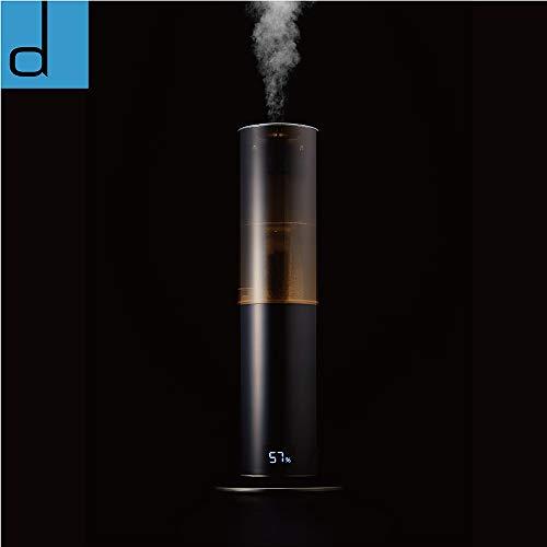 ドウシシャ加湿器ハイブリッド式クレベリンLED搭載除菌抗菌タイマー付きミラーブラックd-designKMHU-701CBK