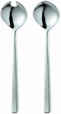 Gense 7748850 Tias Eckhoff Fuga 2 Pieces Salad Set in Box, Stainless Steel, Silver