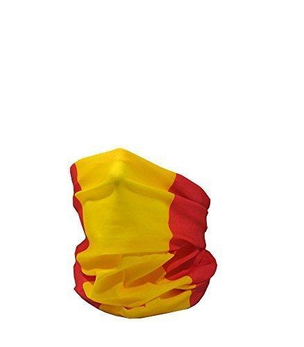 Ruffnek Bandera de España (Civil ) / Bandera de España / la Rojigualda Multifuncional Calentador de Cuello - Talla Única