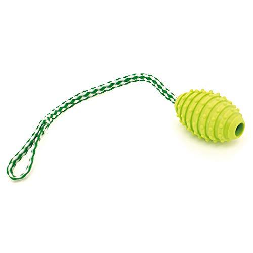 Juguete amarillo con tirador termoplástico