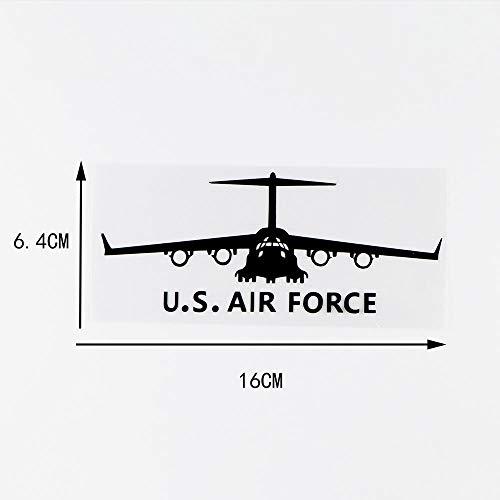 WBXZY 16X6,4 CM U.S.Air Force Aviones Personalidad Coche Pegatinas Vinilo calcomanías 10A-0009-Negro
