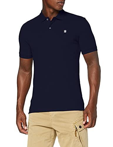 G-STAR RAW Dunda Slim Polo S/s, sartho blue 6067, X-Large para Hombre