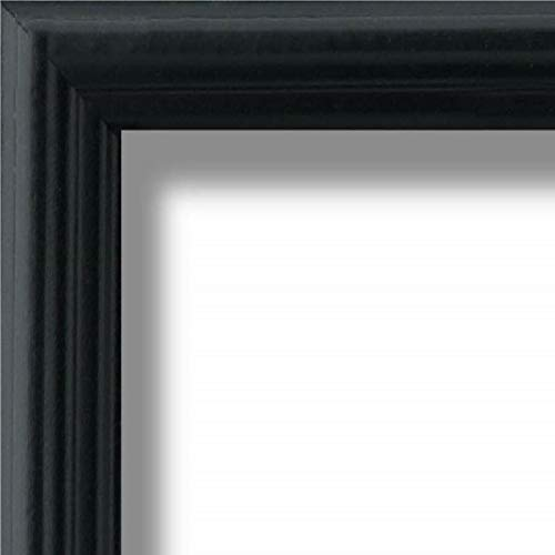 US Art Frames 17x25 Traditional Style Black Thin .75 Inch Wide, Sold Popler Wood, Wall Decor Picture Poster Photo Frame