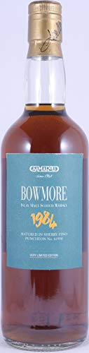 Bowmore 1984 16 Years Sherry Fino Puncheon Cask No. 61930 Samaroli Very Limited Edition Islay Single Malt Scotch Whisky 45,0% Vol. - one of only 798 bottles - absolut seltener Islay Single Malt!