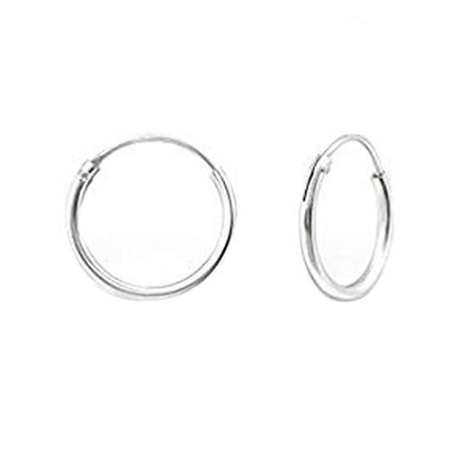 Renquen Leuke Zilveren Hoepels Oorbellen - Dikte 1,2 mm - Hoepels Diameter beschikbaar voor Vrouwen Meisjes, 8 mm
