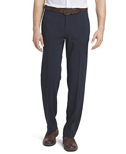 Van Heusen Men's Flex Straight Fit Flat Front Pant, Slate Blue, 36W x 30L