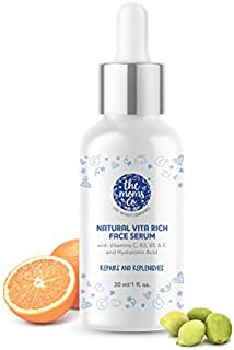 The Moms Co. Natural Vita Rich Face Serum for Deep Hydration,Pigmentation, Fine Lines & Wrinkles with Hyaluronic Acid,Vita...