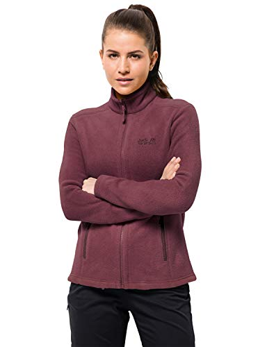 Jack Wolfskin Damen W Moonrise JKT Fleecejacke, Fall red, S