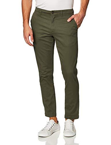 Amazon Essentials Men's Slim-Fit Casual Stretch Khaki, Olive, 32W x 32L