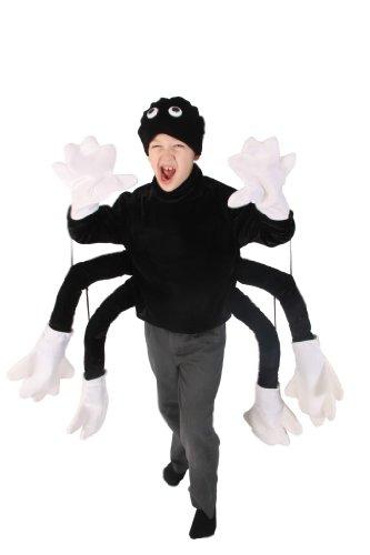 CREATIVE Kinder-Kostüm, Tier-Kostüm Spinne, Oberteil und Hut