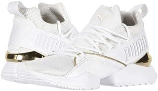 PUMA(プーマ) レディース 女性用 シューズ 靴 スニーカー 運動靴 Muse Maia Varsity - Puma White/Metallic Gold [並行輸入品]