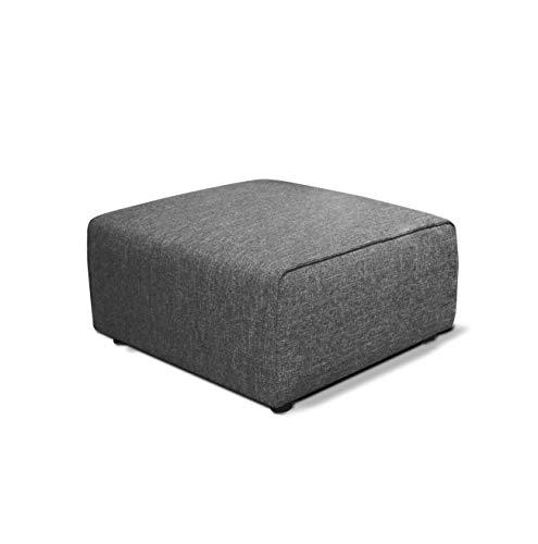 Meubletmoi module voor slaapbank, aanpasbaar, grijs - modern design - Milan Hedendaagse pouf grijs.