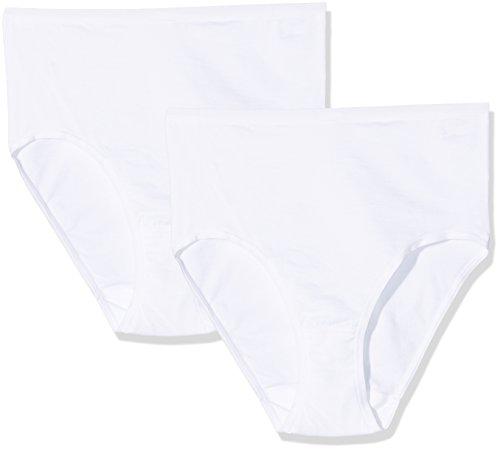 Palmers Damen Taillenslip TaillenNatural Cotton, 2er Pack, Weiß (Weiss 100), 48 (Herstellergröße: XL)