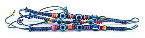 3 Bracelet ŒIL CHANCEUX charme de perle ethnique cordon CIEL pour succès mode