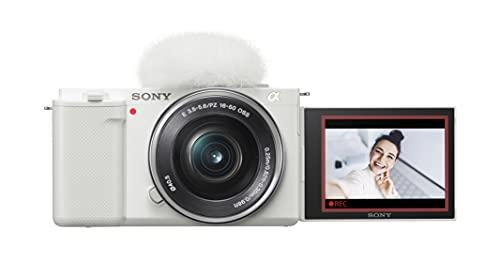 Sony Alpha ZV-E10 - APS-C Interchangeable Lens Mirrorless Vlog Camera Kit - White