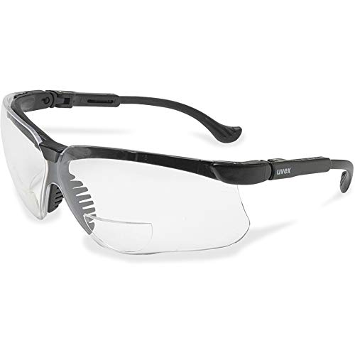 UVEX by Honeywell Uvex Genesis Series Reader Style Safety Glasses, S3763, Black/Clear