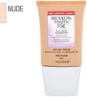2 x Revlon Youth FX Fill + Blur Foundation SPF20-200 Nude