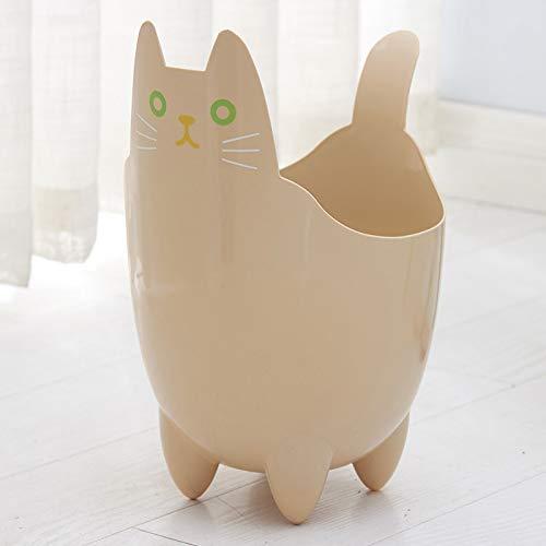 hhxiao Prullenbak schattig grappige kat afval Bins Creatieve Huishoudelijke Desktop Multifunctionele Prullenbak Keuken Woonkamer Sorteren vuilnisbak
